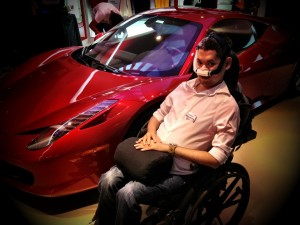Posing beside a Ferrari 458 Italia