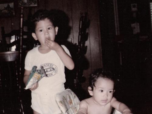 Steve and I when we were kids